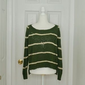 MILLOU | LF Stripped Distressed Sweater (Size S)